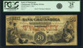 Obsoletes By State:Tennessee, Chattanooga, TN - Bank of Chattanooga $20 May 4, 1861 TN-10 G6a, Garland 104. PCGS Very Fine 25 Apparent.. ...