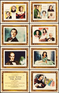 "Movie Posters:Academy Award Winners, Gone with the Wind (MGM, 1939). Roadshow Lobby Card Set of 8 (11"" X14"").. ... (Total: 8 Items)"