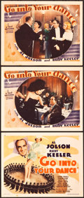 "Movie Posters:Crime, Go Into Your Dance (Warner Brothers, 1935). Title Lobby Card andLobby Cards (2) (11"" X 14"").. ... (Total: 3 Items)"