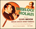 "Movie Posters:Mystery, Sherlock Holmes (Fox, 1932). Title Lobby Card (11"" X 14"").. ..."