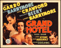 "Movie Posters:Academy Award Winners, Grand Hotel (MGM, 1932). Title Lobby Card (11"" X 14"").. ..."