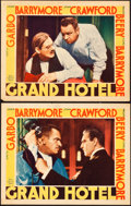 "Movie Posters:Academy Award Winners, Grand Hotel (MGM, 1932). Lobby Cards (2) (11"" X 14"").. ... (Total:2 Items)"