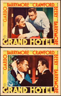"""Grand Hotel (MGM, 1932). Lobby Cards (2) (11"""" X 14""""). ... (Total: 2 Items)"""
