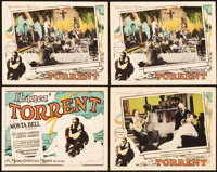 """Torrent (MGM, 1926). Title Lobby Card and Lobby Cards (3) (11"""" X 14""""). ... (Total: 4 Item)"""