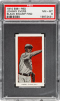 """Baseball Cards:Singles (Pre-1930), 1910 E98 """"Set of 30"""" Johnny Evers - Red (Black Swamp Find) PSANM-MT 8...."""