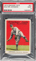 Baseball Cards:Singles (Pre-1930), 1915 Cracker Jack Walter Johnson #57 PSA Mint 9....
