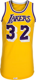 Basketball Collectibles:Uniforms, 1979-85 Magic Johnson Game Worn Los Angeles Lakers Jersey....