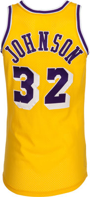 4fd7d43ff 1979-85 Magic Johnson Game Worn Los Angeles Lakers Jersey....