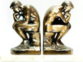 Books:Furniture & Accessories, [Bookends]. Matching Pair of Rodin's The Thinker on OnyxBases. Circa 1960.... (Total: 2 Items)