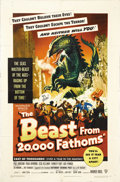 "Movie Posters:Science Fiction, The Beast From 20,000 Fathoms (Warner Brothers, 1953). One Sheet(27"" X 41""). For once, a nuclear explosion doesn't make an ..."