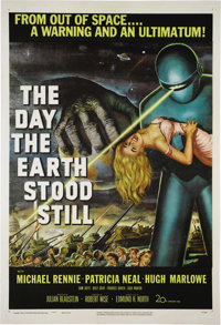 "The Day the Earth Stood Still (20th Century Fox, 1951) One Sheet (27"" X 41""). The classic of all classic 1950'..."