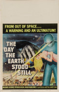 "Movie Posters:Science Fiction, The Day the Earth Stood Still (20th Century Fox, 1951). Window Card(14"" X 22""). Michael Rennie stars as Klaatu, an alien wi..."