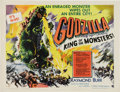 "Movie Posters:Science Fiction, Godzilla (Toho, 1956). Half Sheet (22"" X 28""). Style ""A."" DirectorIshiro Honda's film about the famous 400-foot tall mutant..."