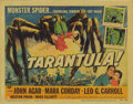 "Movie Posters:Science Fiction, Tarantula (Universal, 1955). Title Lobby Card (11"" X 14""). JackArnold's thriller about a scientist trying to feed the world..."