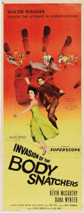 "Movie Posters:Science Fiction, Invasion of the Body Snatchers (Allied Artists, 1956). Insert (14""X 36""). This classic film told the story of alien space p..."