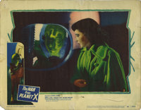 "Man from Planet X (United Artists, 1951). Lobby Card (11"" X 14""). Margaret Field is confronted by an alien who..."
