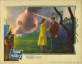 "Movie Posters:Science Fiction, Man from Planet X (United Artists, 1951). Lobby Card (11"" X 14""). This gorgeous lobby card featuring the alien ship has pinh..."