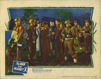"""Man from Planet X (United Artists, 1951). Lobby Card (11"""" X 14""""). This lobby card, showing the British Army ab..."""
