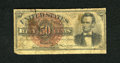 Fractional Currency:Fourth Issue, Fr. 1374 50c Fourth Issue Lincoln Very Good. A tear extends from the top border on this pretty well margined and well circul...