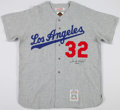 Baseball Collectibles:Uniforms, Sandy Koufax Signed Dodgers Flannel Jersey....