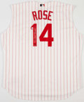 Baseball Collectibles:Uniforms, Pete Rose Signed Cincinnati Reds Jersey....