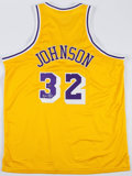 Basketball Collectibles:Uniforms, Magic Johnson Signed Los Angeles Lakers Jersey....
