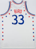 Basketball Collectibles:Balls, Larry Bird Signed All Star Jersey....