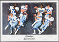 Football Collectibles:Others, Cowboys Legends Multi Signed Lithograph. ...