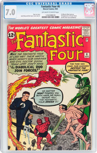 Fantastic Four #6 (Marvel, 1962) CGC FN/VF 7.0 Off-white to white pages