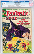 Silver Age (1956-1969):Superhero, Fantastic Four #21 (Marvel, 1963) CGC NM- 9.2 Off-white to white pages....