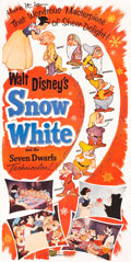 "Movie Posters:Animation, Snow White and the Seven Dwarfs (Buena Vista, R-1958). Three Sheet(41.5"" X 83.5"").. ..."