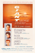 "Movie Posters:Drama, Giant (Warner Brothers, 1956). One Sheet (27"" X 41"").. ..."