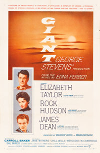 """Giant (Warner Brothers, 1956). One Sheet (27"""" X 41"""")"""