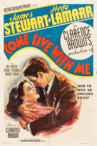 """Come Live with Me (MGM, 1941). One Sheet (27"""" X 41"""") Style C"""