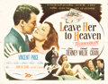 "Movie Posters:Film Noir, Leave Her to Heaven (20th Century Fox, 1945). Half Sheet (22"" X28"").. ..."
