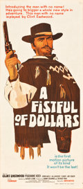 "Movie Posters:Western, A Fistful of Dollars (United Artists, 1967). Australian Daybill (13"" X 30"").. ..."