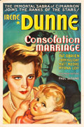 """Movie Posters:Drama, Consolation Marriage (RKO, 1931). One Sheet (27"""" X 41"""").. ..."""