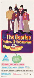 "Movie Posters:Animation, Yellow Submarine (United Artists, 1968). Australian Daybill (13"" X30"").. ..."