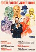 "Movie Posters:Action, Everybody Against James Bond (United Artists, 1972). Italian 4 -Fogli (55"" X 78"") Averardo Ciriello Artwork.. ..."