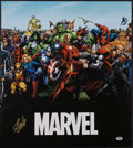 Miscellaneous Collectibles:General, Stan Lee Signed Marvel Poster....