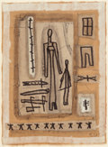 Fine Art - Painting, American:Contemporary   (1950 to present)  , Clyde Connell (American, 1901-1998). Markings No. 4. Ink andacrylic on paper. 11-3/4 x 8-3/4 inches (29.8 x 22.2 cm) (s...