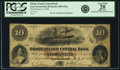 Obsoletes By State:Rhode Island, East Greenwich, RI - Rhode Island Central Bank $10 July 4, 1855 RI-100 G52a, Durand 375. PCGS Very Fine 20 Apparent.. ...
