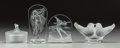Art Glass:Lalique, Four Lalique Society of America Glass Table Pieces: Degas,The Magic of Enchantment, Hestia Medallion, F... (Total: 4Items)