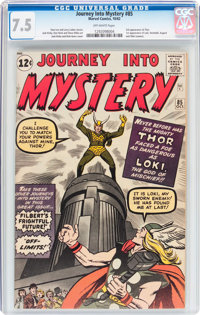 Journey Into Mystery #85 (Marvel, 1962) CGC VF- 7.5 Off-white pages