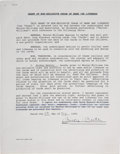 Baseball Collectibles:Others, 1995 Mickey Mantle Signed Contract for Calling Cards from The Bobby Murcer Collection. ...
