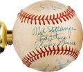 Baseball Collectibles:Balls, 1970's Bobby Murcer Baseball Lamp with Signed Baseballs Including Thurman Munson from The Bobby Murcer Collection. ...