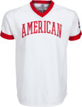 Baseball Collectibles:Uniforms, 1980's Bobby Murcer Game Worn Cracker Jack Old-Timers' Day Jersey from The Bobby Murcer Collection. ...