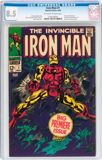Iron Man #1 (Marvel, 1968) CGC VF+ 8.5 Off-white to white pages