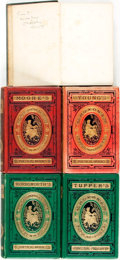 Books:Literature Pre-1900, [Featured Lot]. [William Michael Rossetti, editor]. Five Volumes of Poetry in Decorative Bindings; One INSCRIBED. London: Wa... (Total: 5 Items)