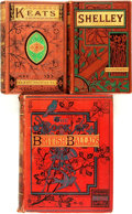 Books:Literature Pre-1900, [William B. Scott, editor]. Two Volumes of Poetry fromRoutledge's Red-Vine Poets [together with:] [S.C. Hall,edi... (Total: 3 Items)